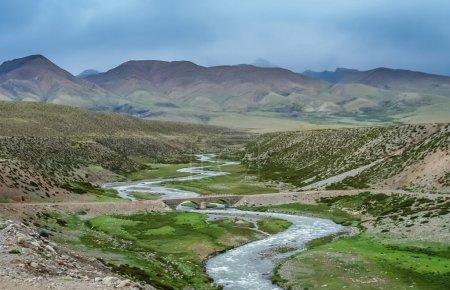 Mountain road through the valley