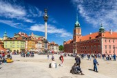 WARSAW, POLAND - 05.05.2018. Royal Castle at central square of p