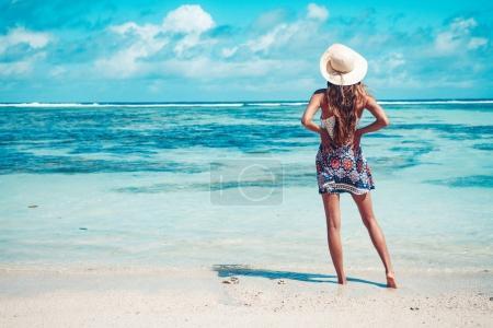 Beautiful lagoon girl
