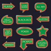 Casino party set of pointers