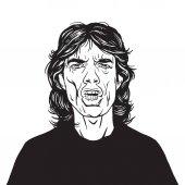 Mick Jagger Vector Portrait Drawing