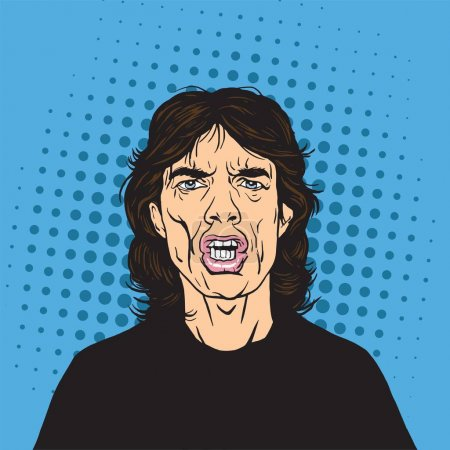 Mick Jagger Pop Art Portrait
