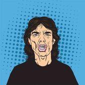 Mick Jagger Pop Art Portrait Vector