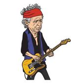 Keith Richards of The Rolling Stones Cartoon