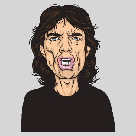 Mick Jagger of the Rolling