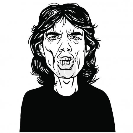 Mick Jagger Hand Drawn Portrait