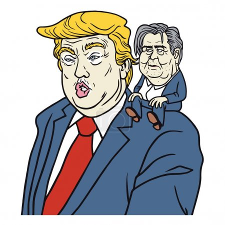 Donald Trump with Steve Bannon