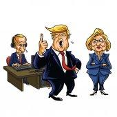 Donald Trump Vladimir Putin and Hillary Clinton Cartoon June 2 2017