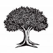 Tree Vector Illustration Drawing Logo Template