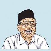 Gus Dur Abdurrahman Wahid Vector Illustration Portrait Drawing November 13 2017
