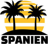 Spain palm with sun German