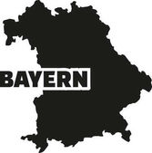 Bavaria map with german title