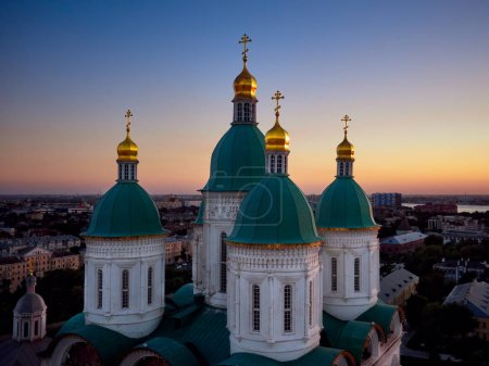 Church with green domes