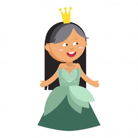 Princesses vector set cute collection of beautiful characters