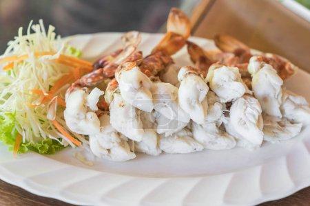 Sculling crab or steam crab leg sea food