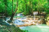 Erawan Waterfall, Erawan National Park at Kanchanaburi in Thaila