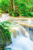 Erawan Waterfall, Erawan National Park at Kanchanaburi in Thaila