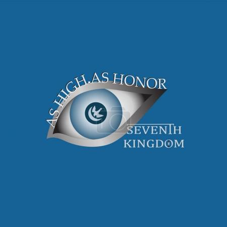 Eye and text As high, as honor.