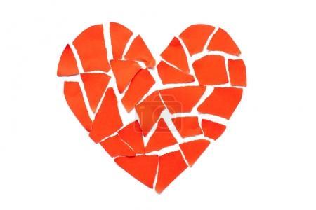 Gebrochenes Herz Trennung und Scheidung Ikone. red cr