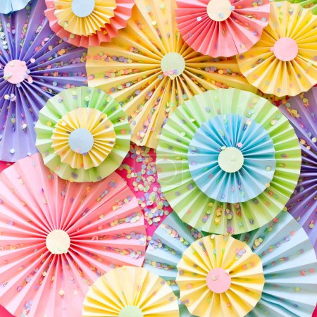 White gifts. Bright satin ribbons. Colorful rosettes like decora