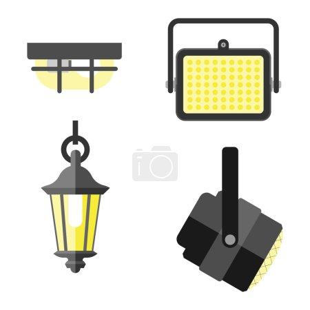 Light equipment vector illustration.
