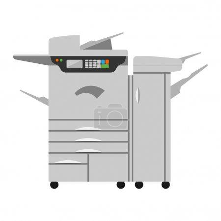 Copy machine vector illustration.