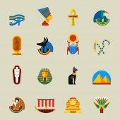 Egypt icons vectosr set