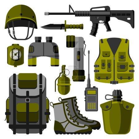 Military weapon guns symbols vector illustration