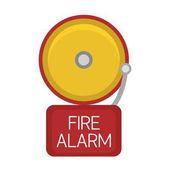 Fire alarm button vector icon
