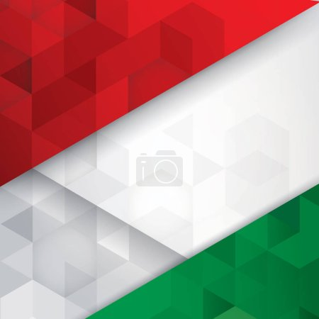 Italian flag colours abstract background.