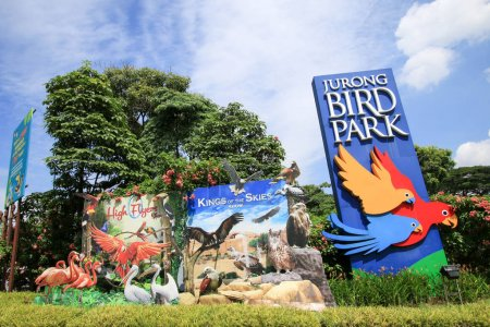Singapore - JULY 8, 2017 : Jurong Bird Park is a popular tourist attraction in Singapore.