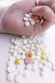 Různé léky na skladě