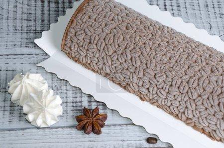 Photo pour Velours chocolat Buche de Nol ) - image libre de droit