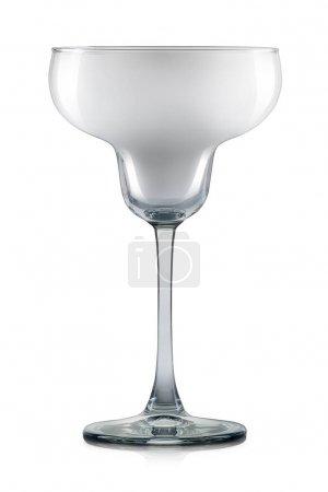 Empty margarita glass isolated on white