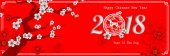 2018 Chinese New Year Paper Cutting Year of Dog with plum blosso