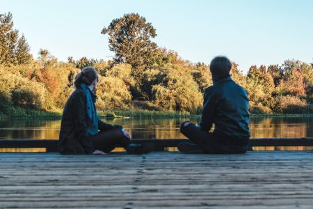 Couple at Trout Lake in Vancouver, Canada