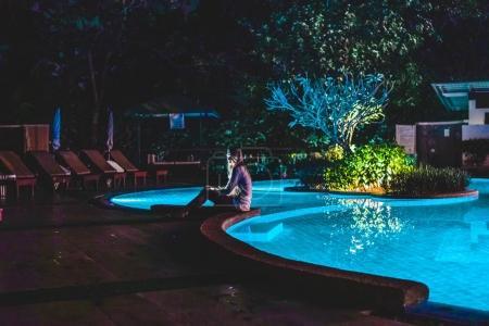 Girl Near Swimming Pool at a Resort