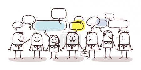 Business people and social network...