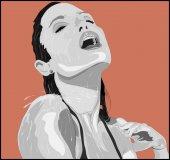 Noire Jolie in shower Illustration