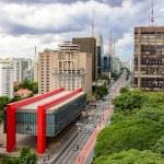 Paulista avenue, financial center of Sao Paulo and...