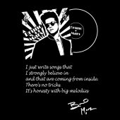 Bruno Mars qoute on black and white vector3