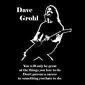 Dave Grohl from Foo Fighters qoute black and white vector1