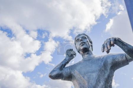 Bronze statue of Goran Karlsson, the founder of GeKas shopping center