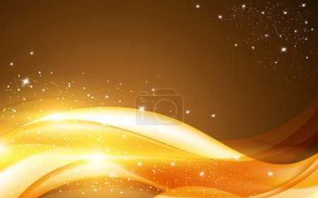 Illustration for Abstrac golden christmas background, vector illustration - Royalty Free Image