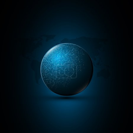 abstract globe cyber tech background