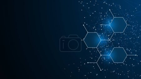 Illustration for Futuristic digital background, vector illustration - Royalty Free Image