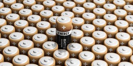 Photo pour Arrière-plan de batteries de rendu 3d, un out - image libre de droit