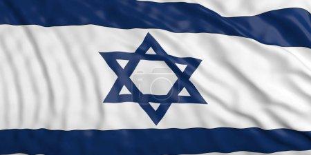 Waiving Israel flag. 3d illustration