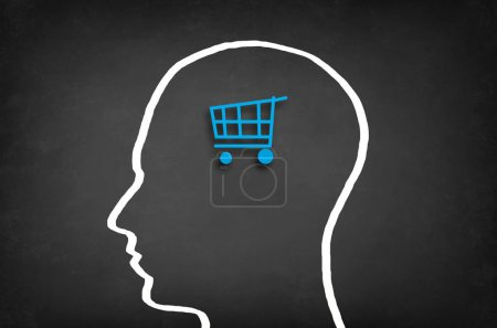 Shopping cart in head