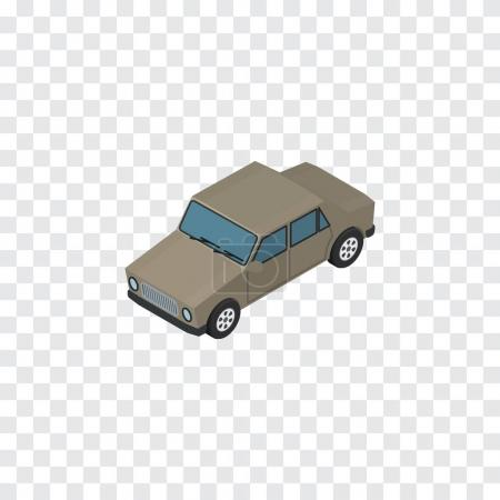 Isolated Car Isometric. Auto  Vector Element Can Be Used For Car, Auto, Sedan Design Concept.